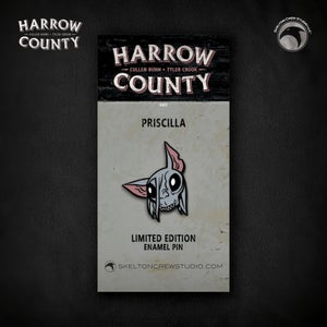 Image of Harrow County: Limited Edition Priscilla enamel pin!