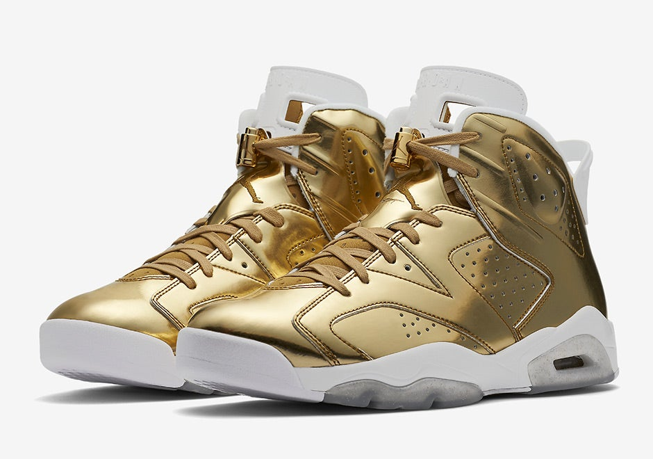 "timeless design c7926 9046a Air Jordan 6 Retro Pinnacle ""Metallic Gold""   Reserved Sneaks"