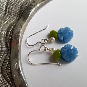 Image of Blue Forget Me Not Earrings