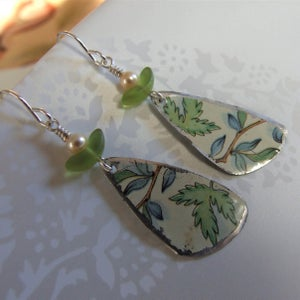 "Image of Tin ""Pottery Shard"" Earrings"