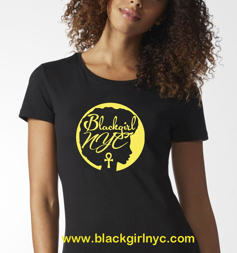 Image of Logo Tee Black Girl NYC (BLACK)