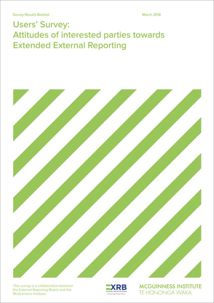 Image of User Survey: Attitudes of interested parties towards Extended External Reporting