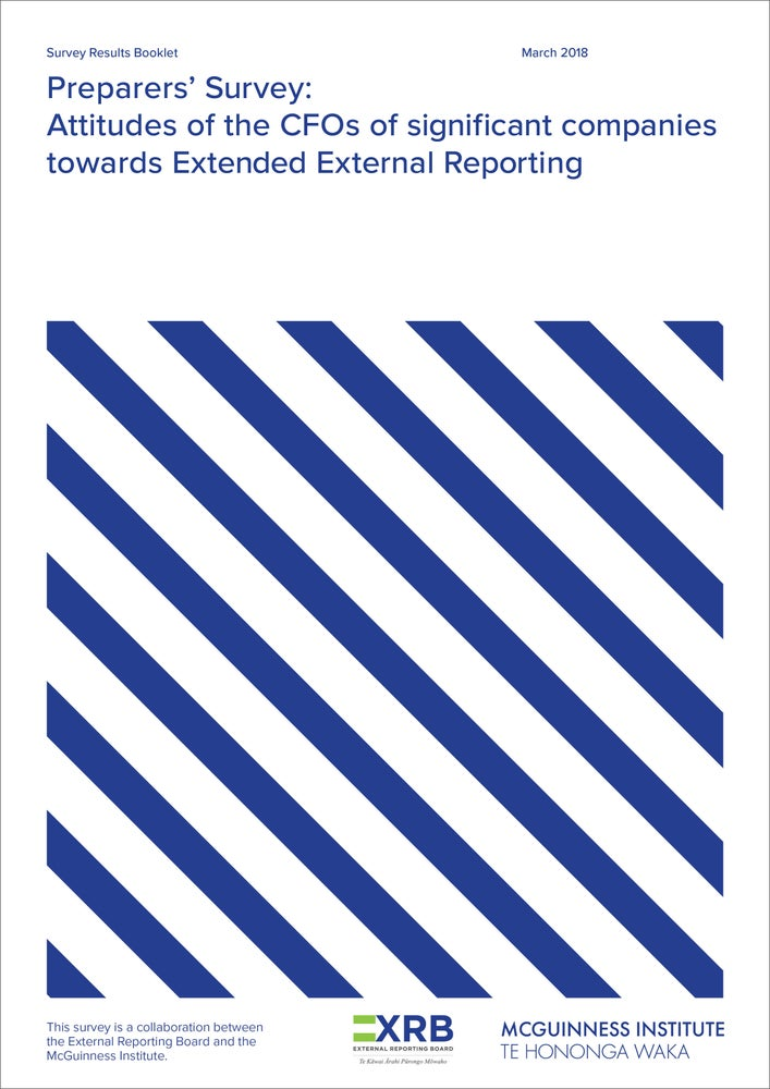 Image of Preparers' Survey: Attitudes of the CFOs of significant companies towards Extended External Reportin
