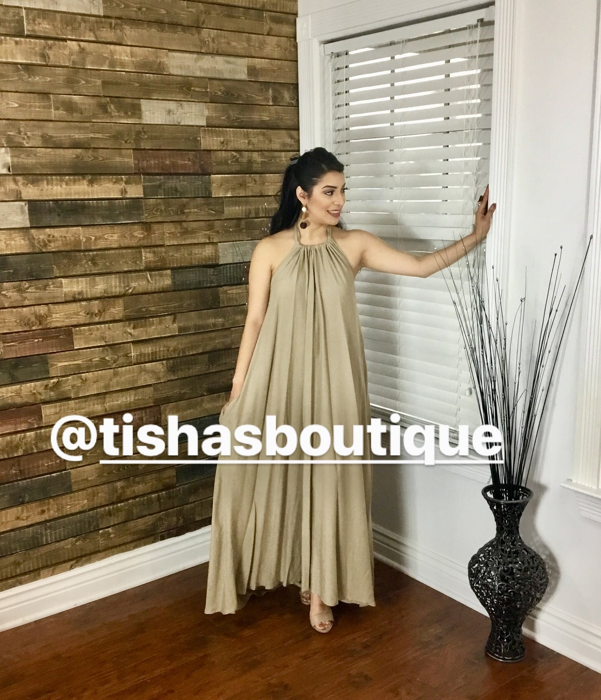 """Image of The """"Summer Vibes"""" Maxi Dress-Beige"""