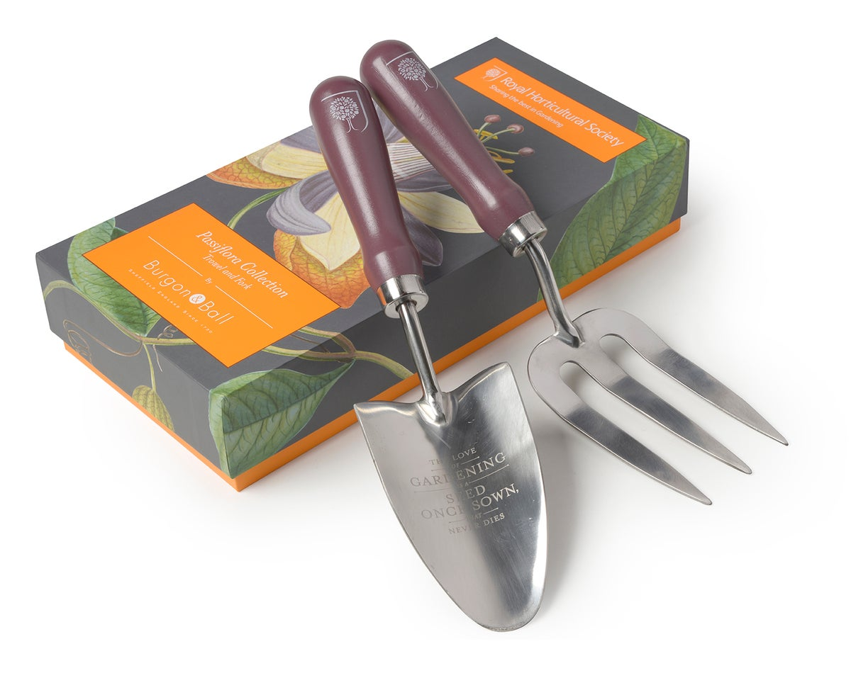 Image of Burgon & Ball Passiflora Garden Tool Set