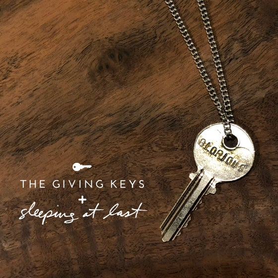 "Image of Enneagram 4 - ""GLORIOUS"" Key Necklace"