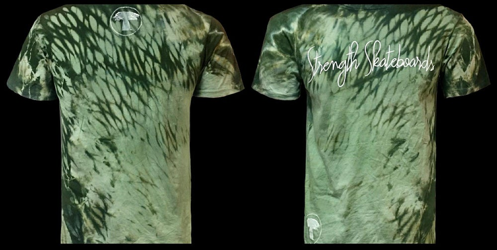 Image of Green Strength tree of life tees