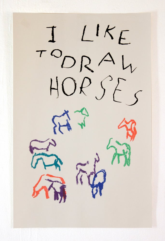 Image of I Like To Draw Horses