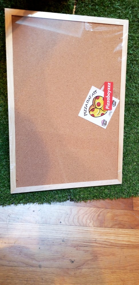 Image of LARGE CORK PIN BOARD DISPLAY 18 x 12.5 INCH