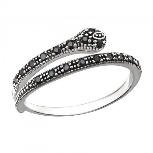 Image of Sterling Silver Serpentina Ring
