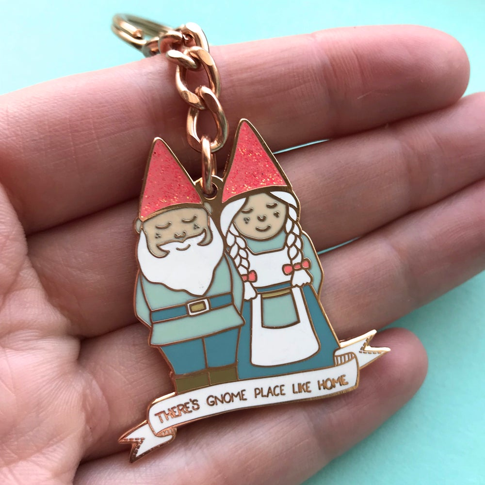 Image of There's Gnome Place Like Home - Enamel Keyring