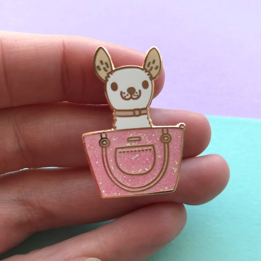 Image of Chihuahua Bag Enamel Pin