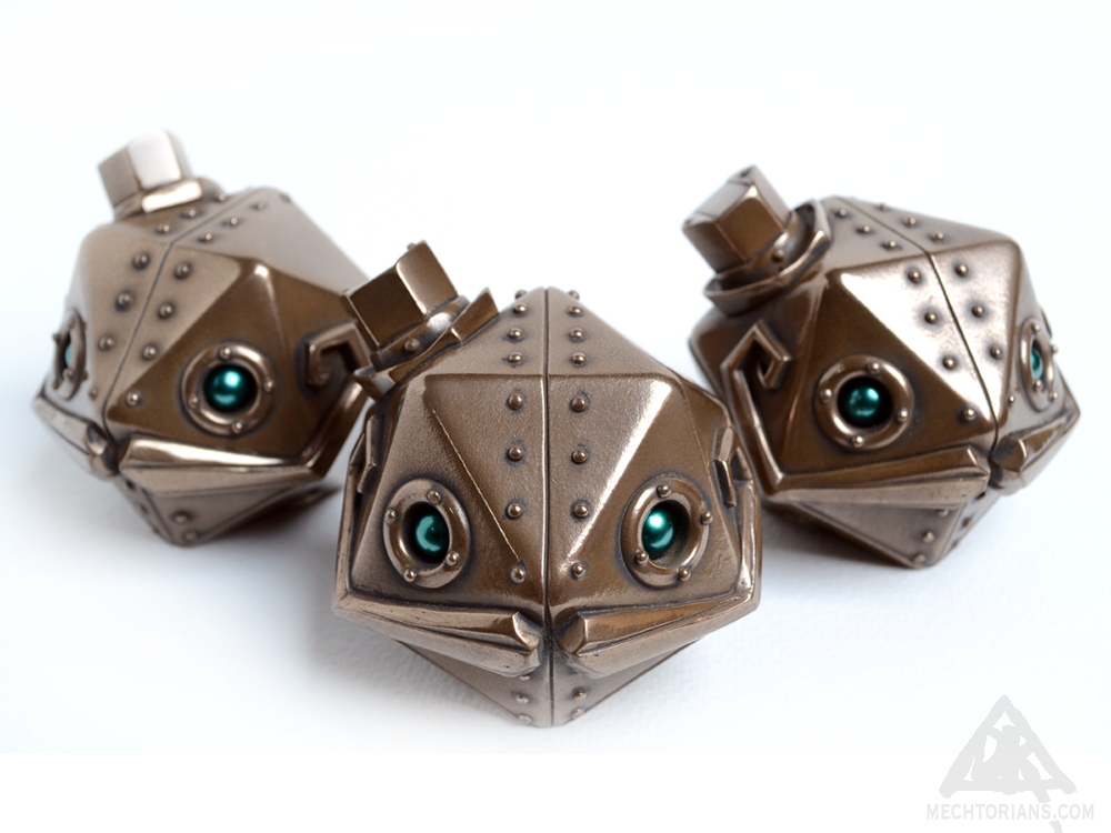 "Image of Joe Decahedron ""Bronze"" Edition Mechtorian Resin Figure *FREE SHIPPING*"