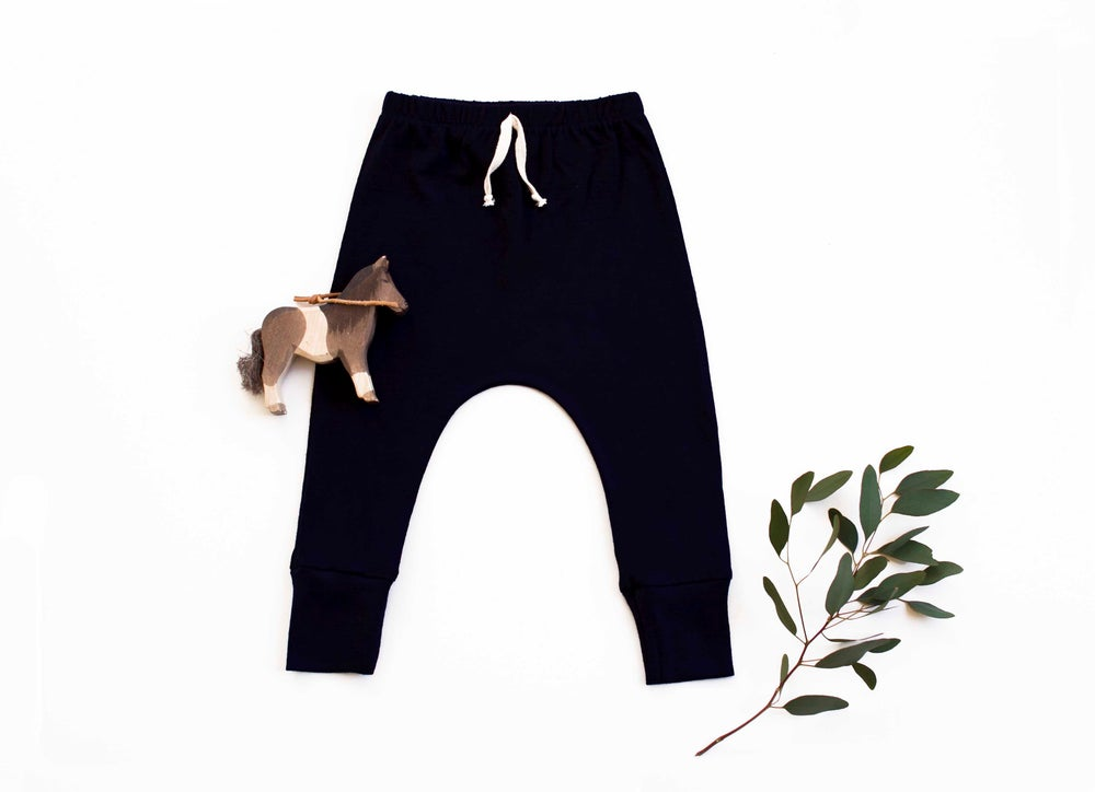 Image of 'Basic range' merino pants midnight