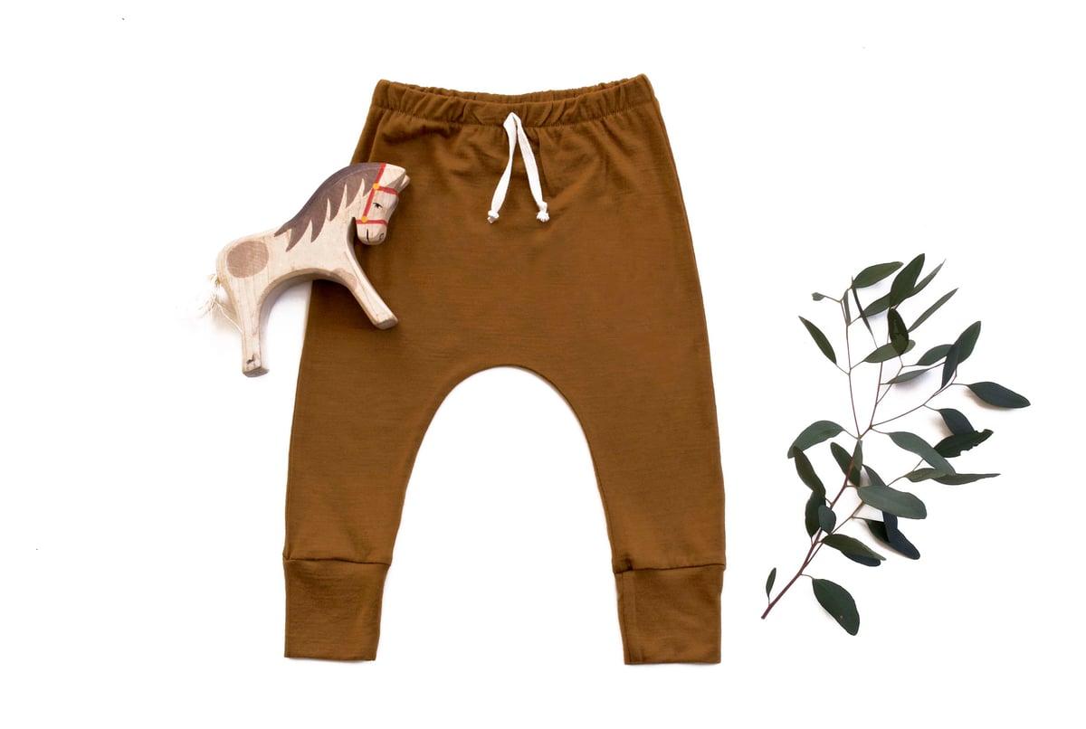 Image of Merino 'Basic range' pants mustard