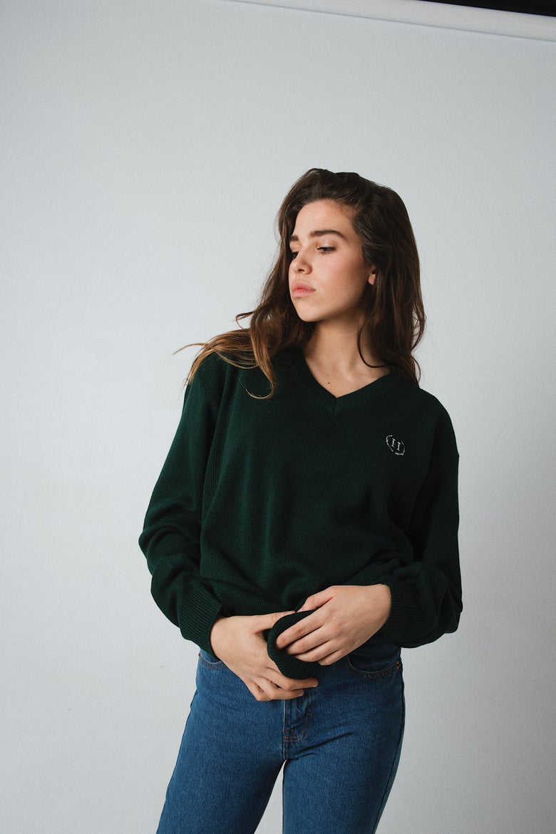 Image of V NECK SWEATER G.
