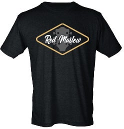 "Image of RED MARLOW ""GUITAR"" TEE - BLACK"