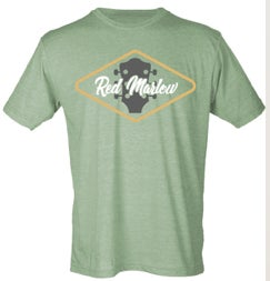 "Image of RED MARLOW ""GUITAR"" TEE - GREEN"