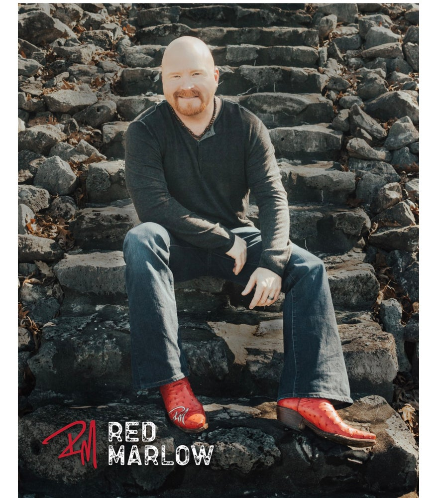 Image of RED MARLOW AUTOGRAPHED 8X10 PHOTO *WITH BONUS KOOZIE