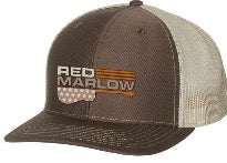 "Image of RED MARLOW ""GUITAR"" BALL CAP - BROWN"
