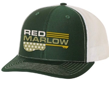 "Image of RED MARLOW ""GUITAR"" BALL CAP - GREEN"