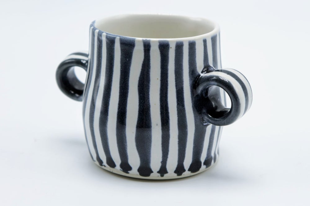 Image of Blue Striped Sugar Bowl
