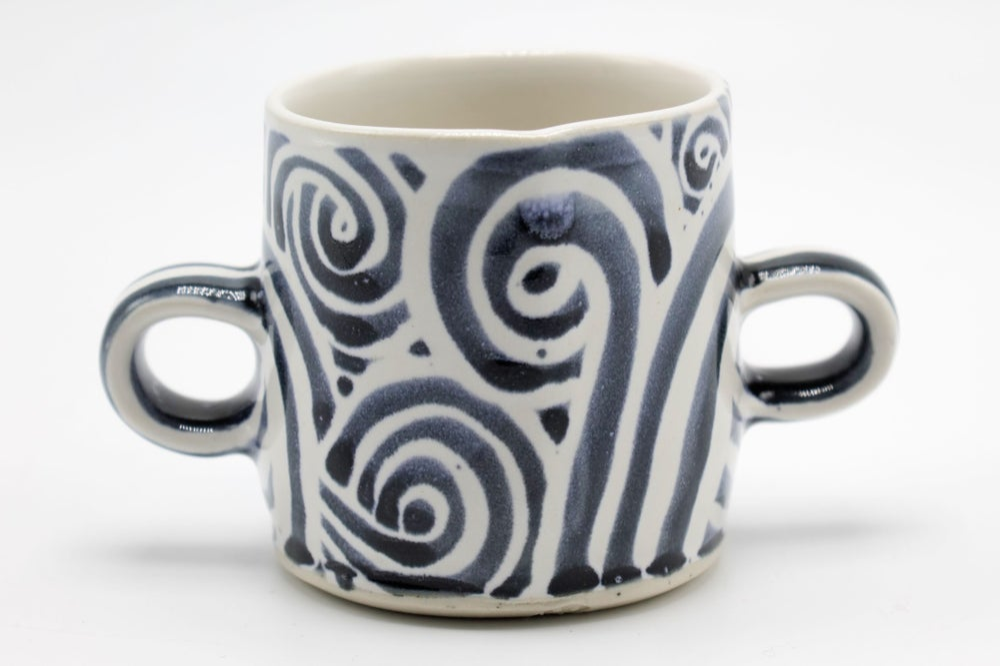 Image of Blue Swirls Sugar Bowl