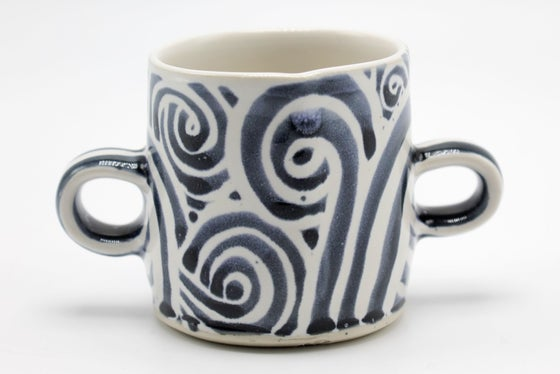 Image of Blue Swirls Sugar Bowl