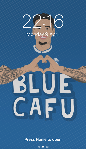 Image of Blue Cafu phone wallpaper