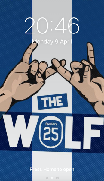 Image of The Wolf phone wallpaper