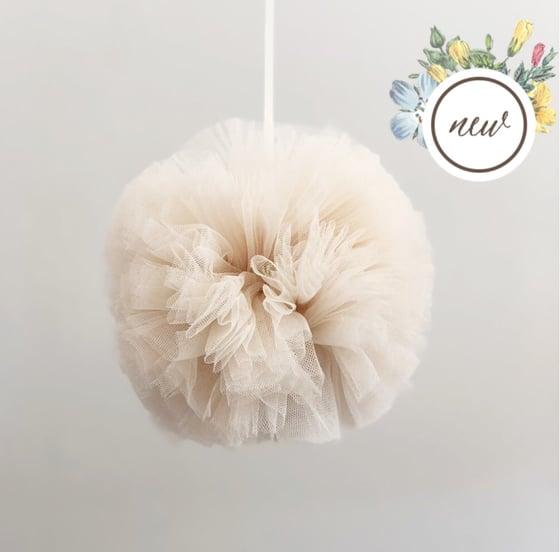 Image of Small vanilla Pom Pom