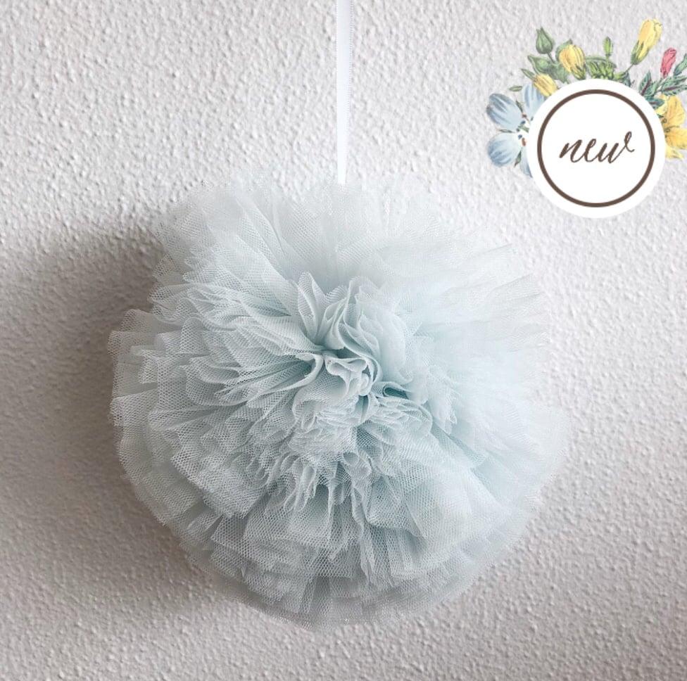 Image of Small Power blue Pom Pom