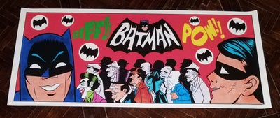 Image of GIANT-SIZE BATMAN TV SERIES OPENING TRIBUTE 36x15.5 PRINT!