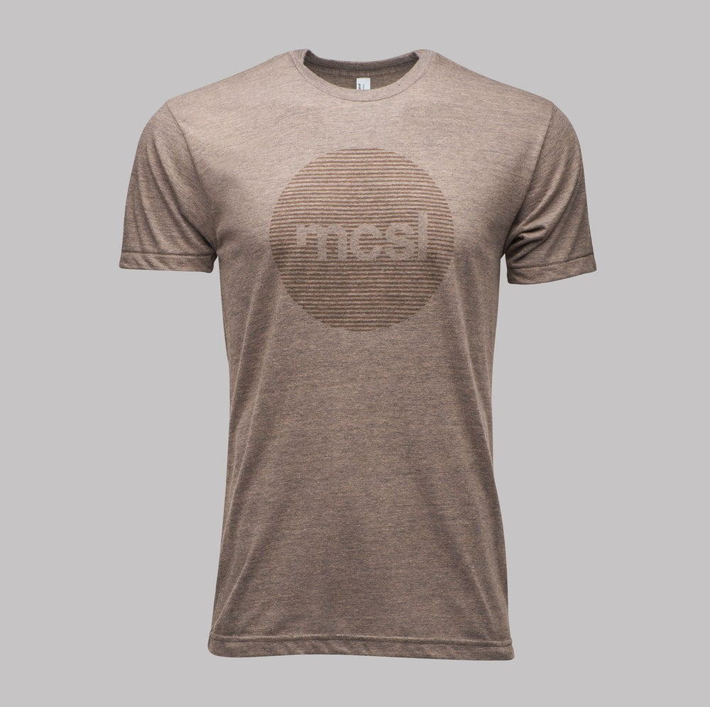 Image of microCastle 'Stereo Field' T-Shirt Coffee