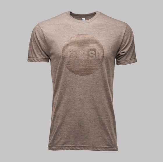 Image of microCastle Stereo Field T-Shirt Coffee