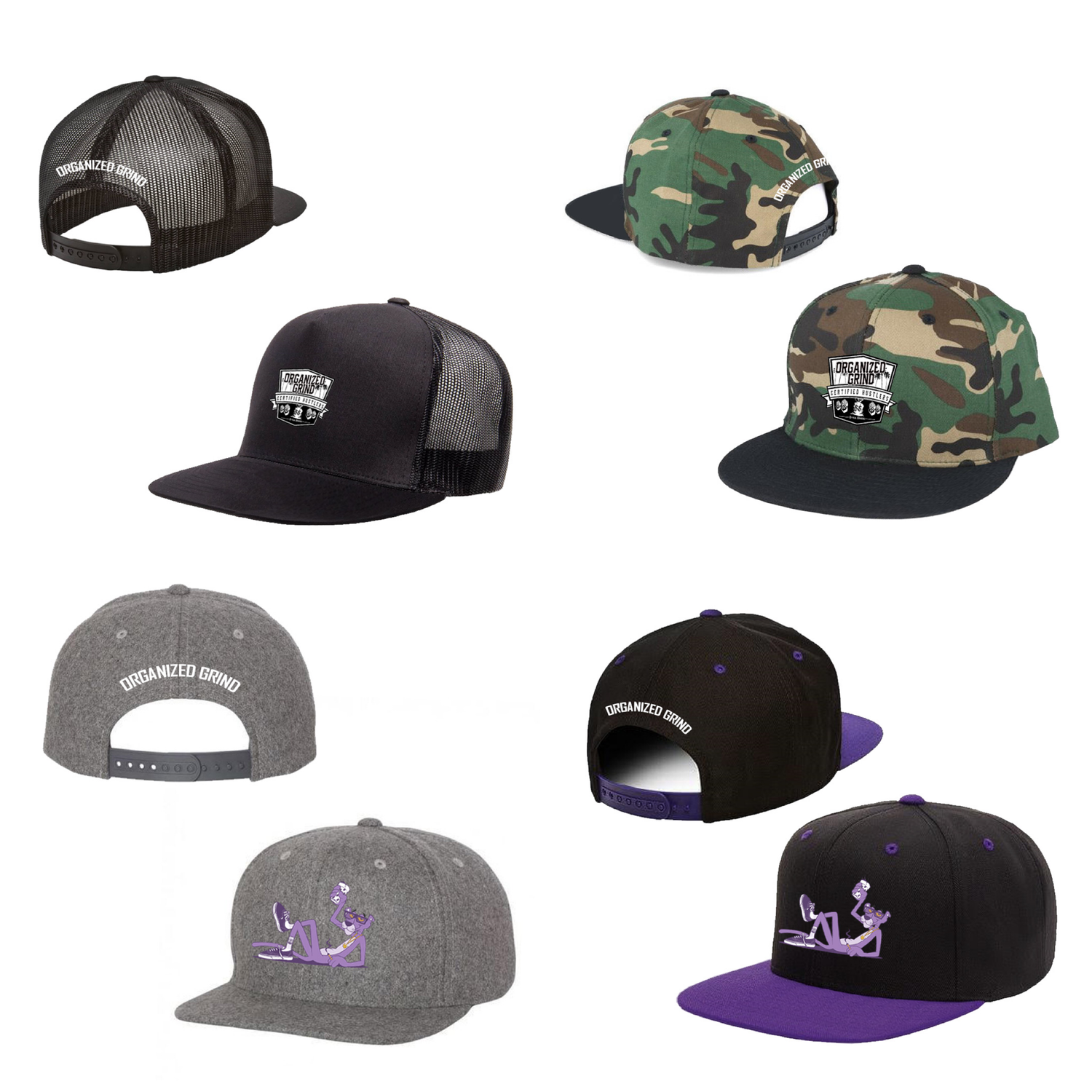 Image of  OG Logo & Purple Panther Snapbacks