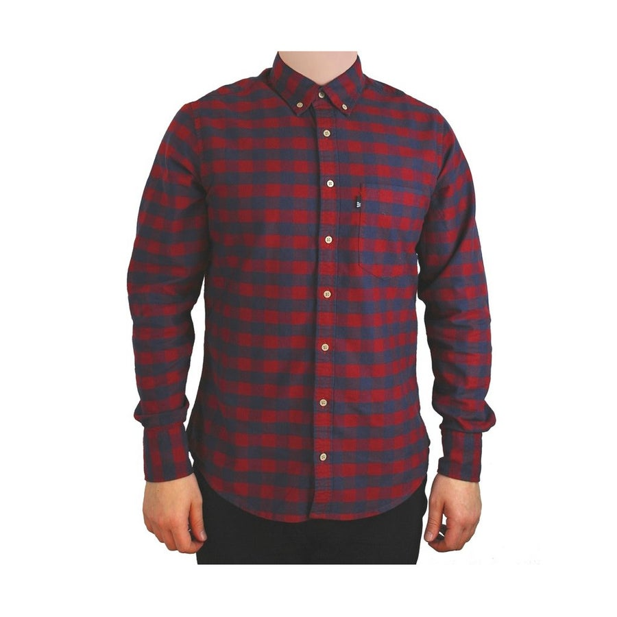 Image of Hobsbawm fitted shirt - Brocklehurst red check