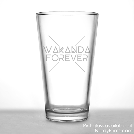 "Image of ""Wakanda Forever"" Pint Glass"