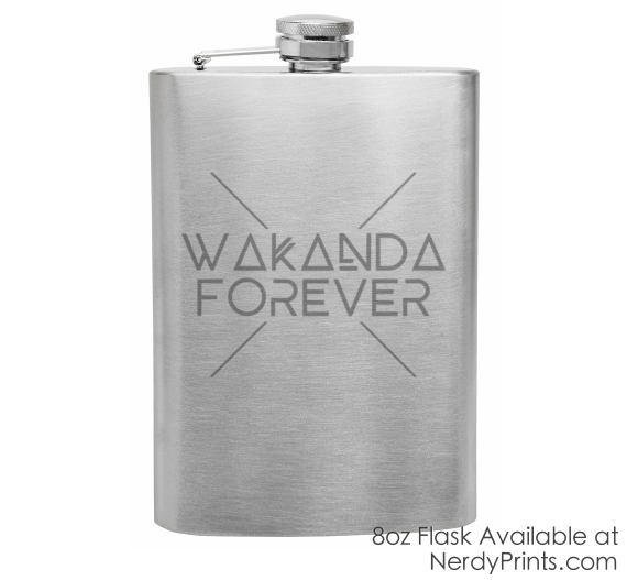 Image of Wakanda Forever Flask