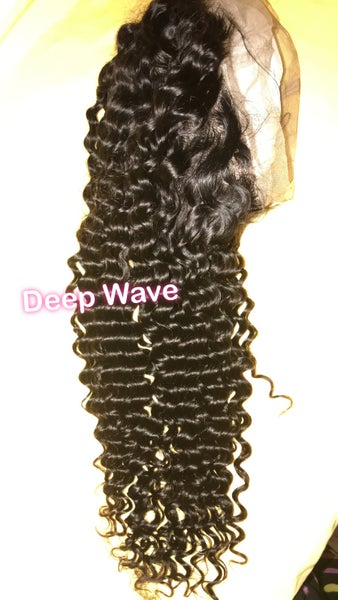 Image of Brazilian Deep Wave 360 Full Lace Wig (130 Density)
