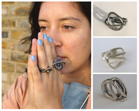 Image of LARGE SWIRL RINGS AS WORN BY CHER IN 'MAMMAMIA2'