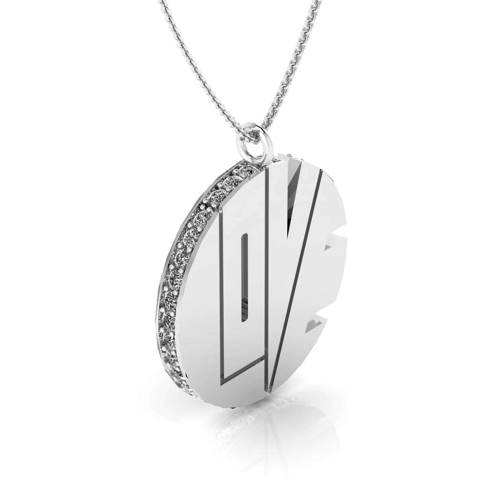 Image of THE WHITE GOLD LOVE PENDANT