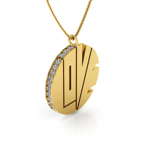 Image of THE DIAMOND GOLD LOVE PENDANT