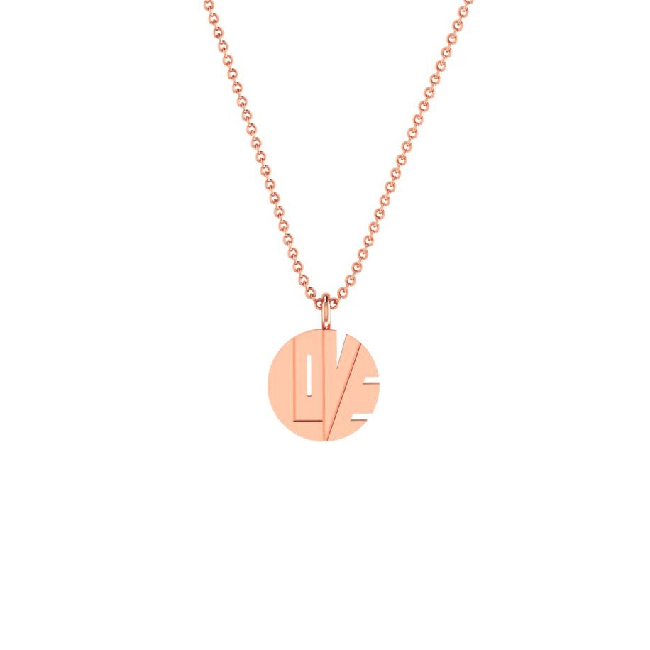 "Image of THE ROSE GOLD ""LOVE PENDANT"""