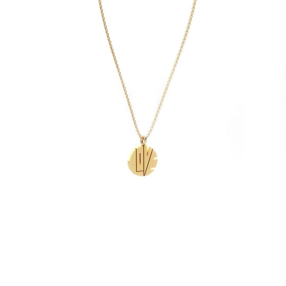 "Image of THE GOLD MINI ""LOVE PENDANT"""