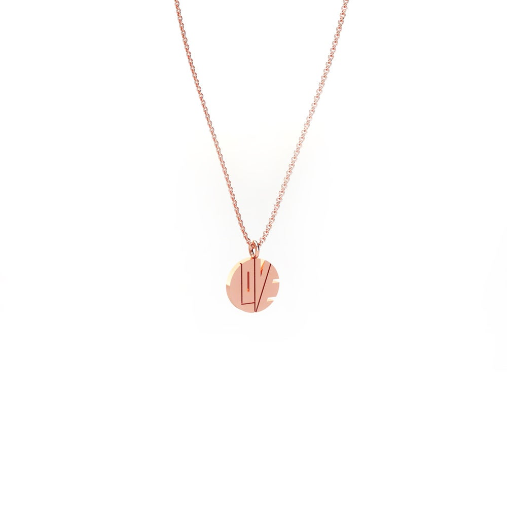 "Image of THE ROSE GOLD MINI ""LOVE PENDANT"""
