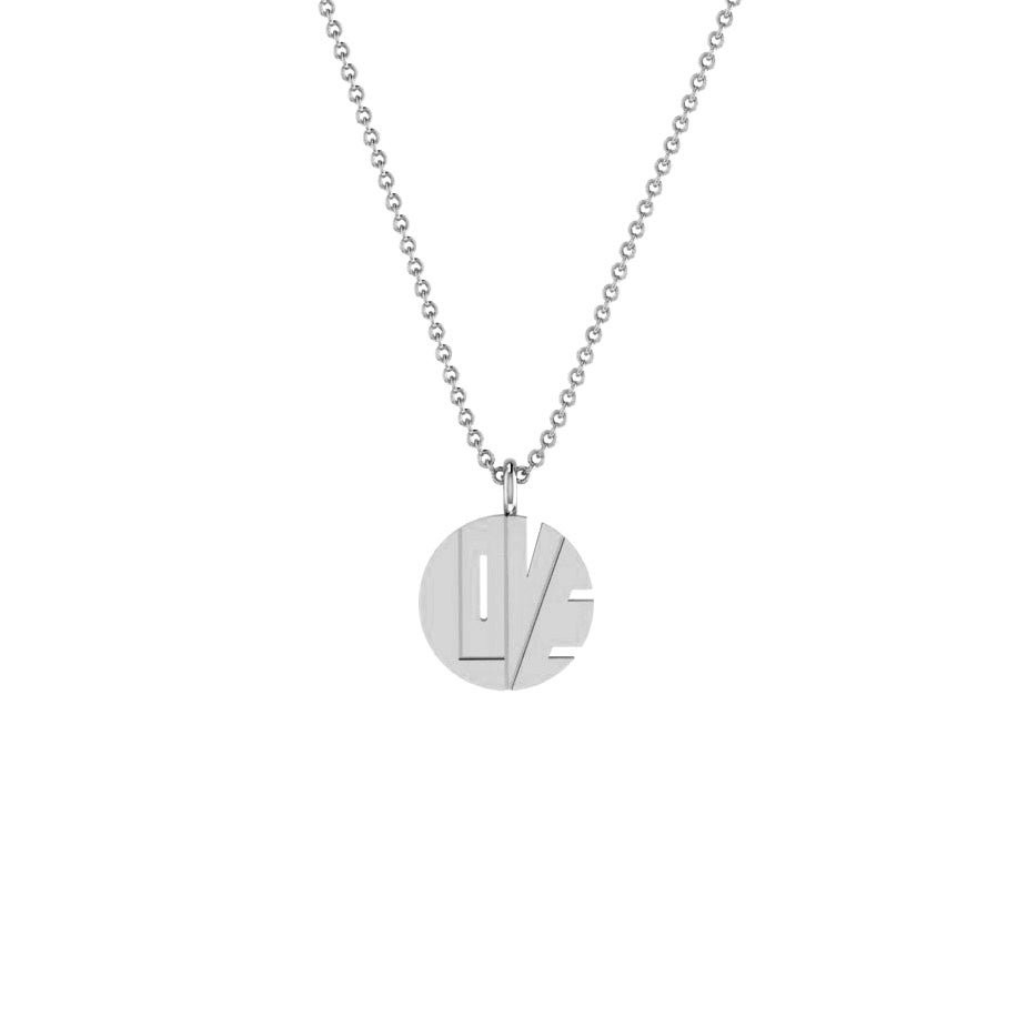 "Image of THE SILVER ""LOVE PENDANT"""