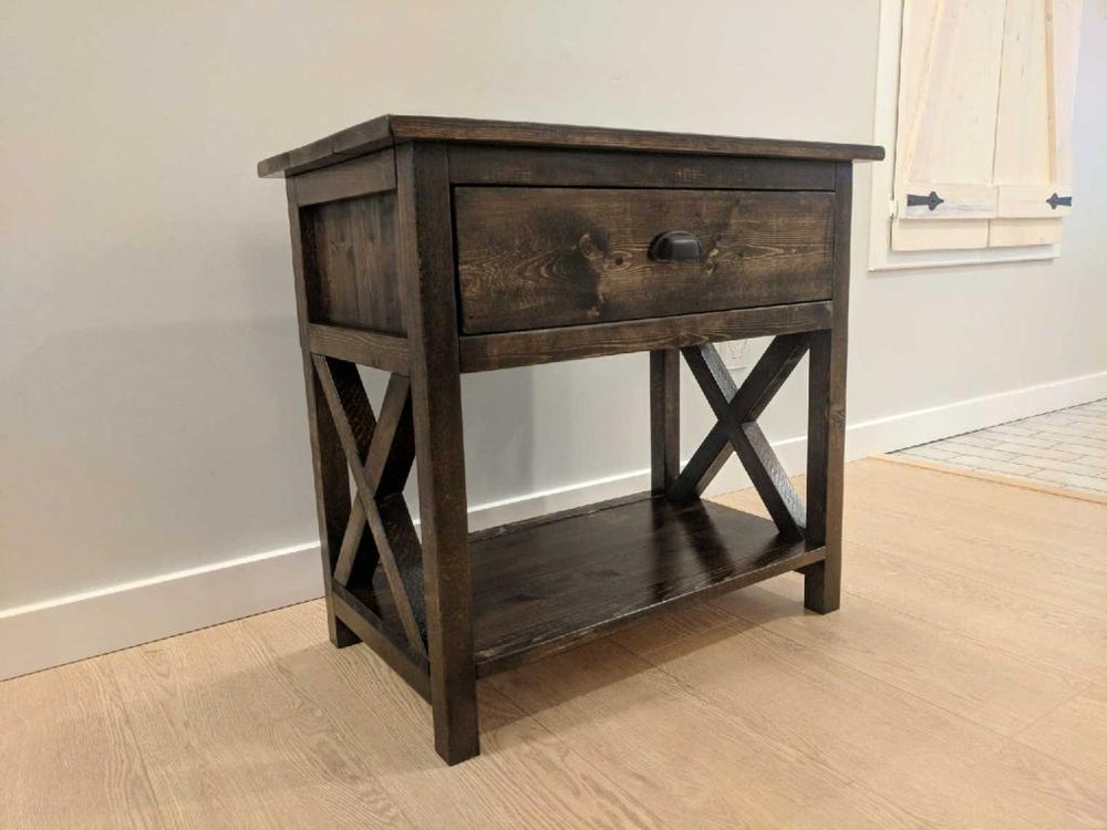 Image of Rustic Farmhouse Nightstands