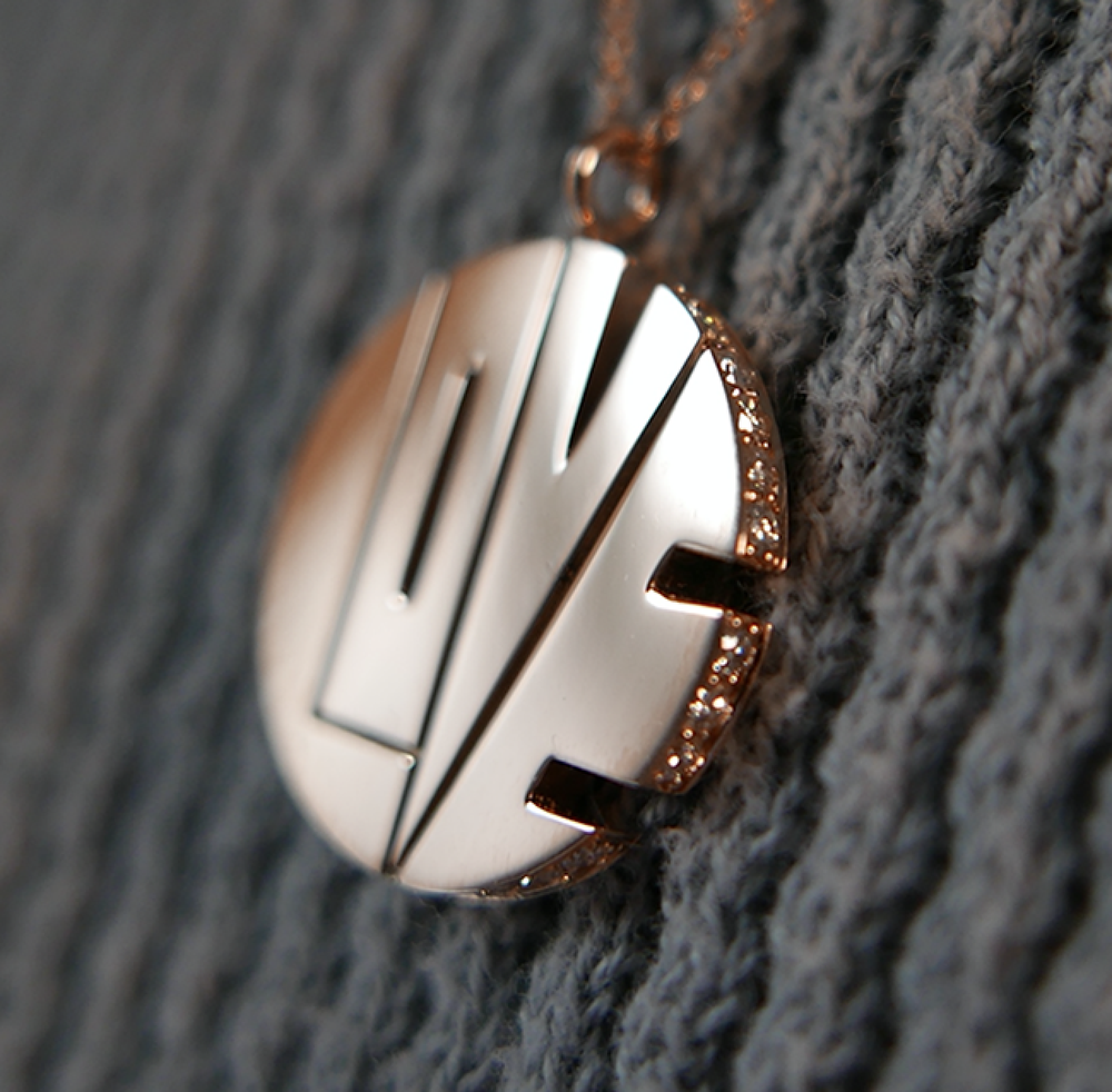 Image of THE ROSE GOLD DIAMOND LOVE PENDANT