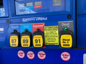 Image of DONT BLOCK THE DIESEL PUMP STICKER 3 PACK